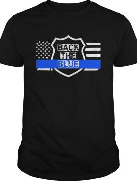 Back the blue american flag independence day shirt