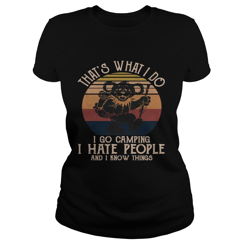 Bear thats what i do i go camping i hate people and i know vintage retro  Classic Ladies