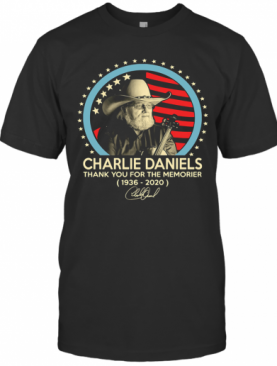 Charlie Daniels 1936 2020 Thank You For The Memories Signature T-Shirt