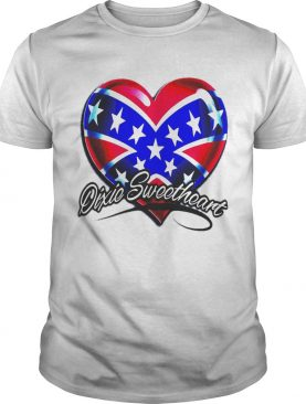 Dixic sweetheart heart american happy independence day shirt