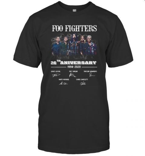 Foo Fighters 26Th Anniversary 1994 2020 Signature T-Shirt Classic Men's T-shirt