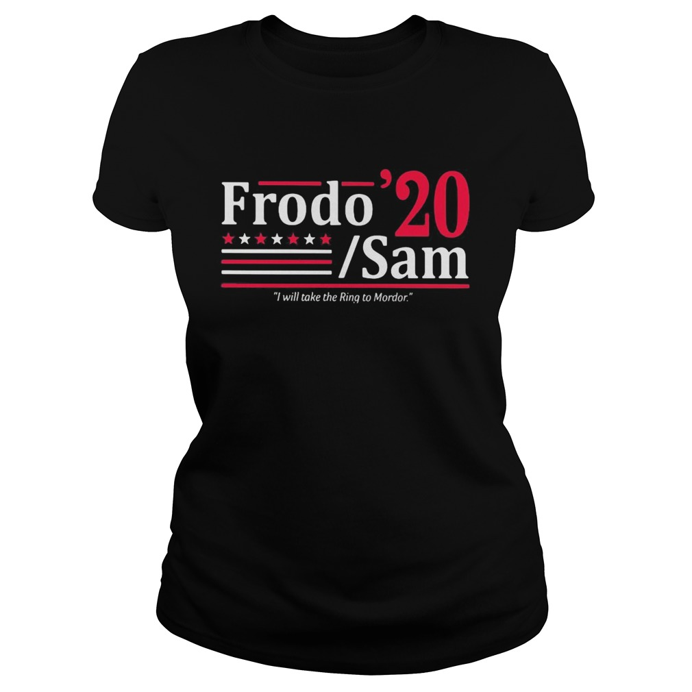 Frodo 2020 sam i will take the ring to mordor stars  Classic Ladies