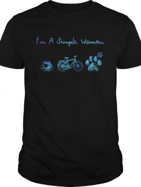 Im a simple woman coffee bicycle paws shirt