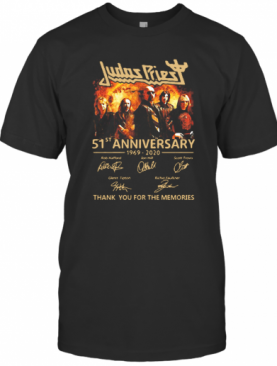 Judas Priest 51St Anniversary 1969 2020 Signatures T-Shirt