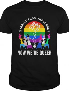 LGBT Started from the closet now were queer Sister Witch shirt
