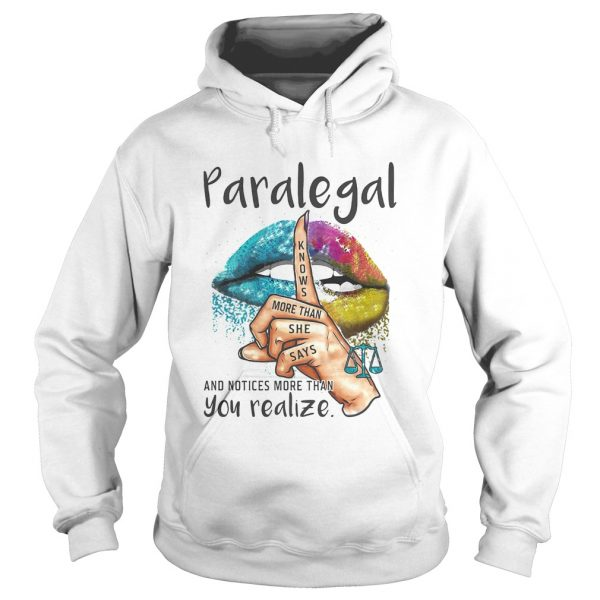 Paralegal And Notices More Than You Realize Lips Color  Hoodie