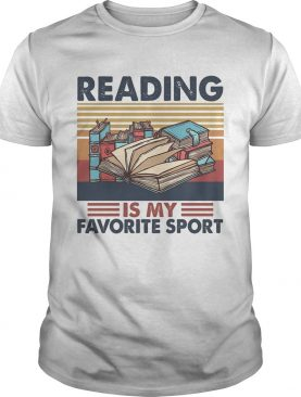 Reading books is my favorite sport vintage retro shirt