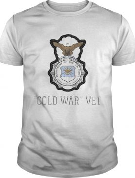 Security police department of the air force cold war vet shirt