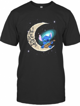 Stitch I Love You To The Moon Back T-Shirt