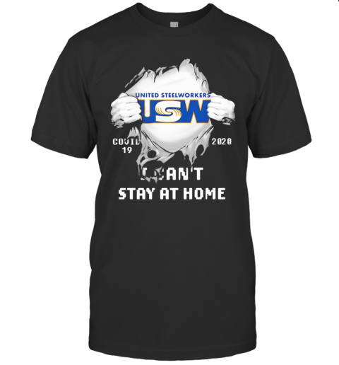 United Steelworkers USW I Can'T Stay At Home Covid 19 2020 Superman T-Shirt Classic Men's T-shirt