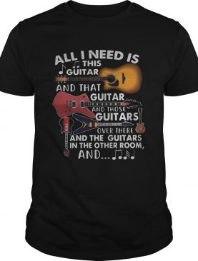 All I need is this guitar and that guitar and those guitars over there and the guitars in the other