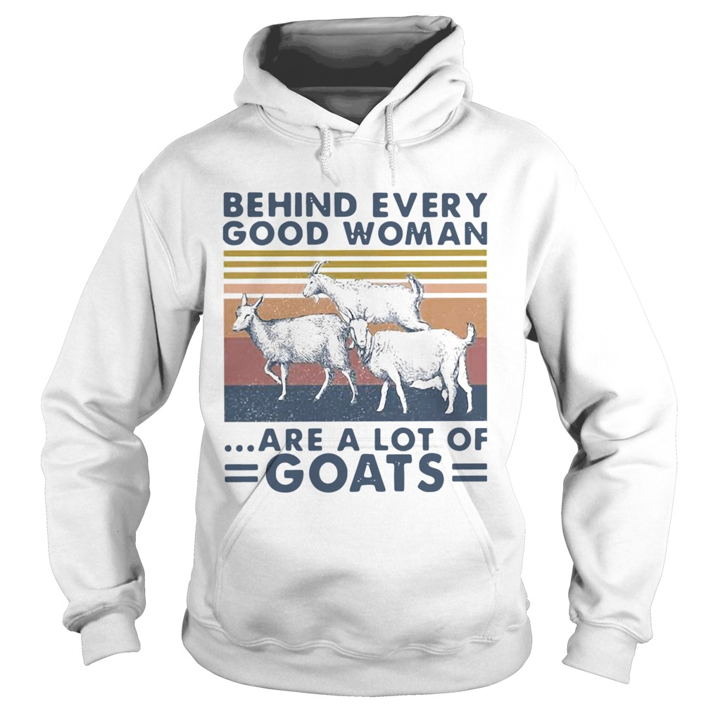 Behind Every Good Woman Are A Lot Of Goats Vintage  Hoodie