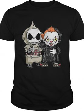 Cute Jack Skellington And Pennywise Friend Happy Halloween shirt