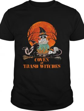 Halloween Animal Coven of trash witches sunset shirt