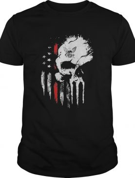 Red Navy Skull American Flag Independence Day shirt
