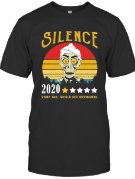 Skull Silence 2020 Very Bad Would Not Recommend Vintage Retro Stars T-Shirt
