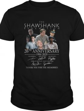 The Shawshank Redemption 26th Anniversary 19942020 Signature Thank You For The Memories shirt