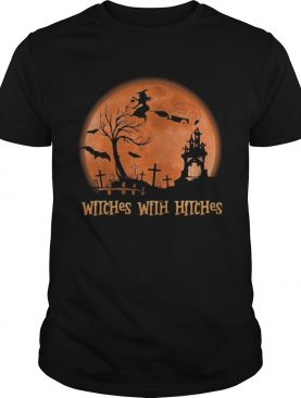 WITCHES WITH HITCHES SUNSET HALLOWEEN shirt