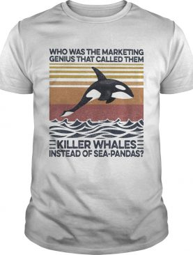 Who was the marketing genius that called them killer whales instead of seapandas vintage retro shi