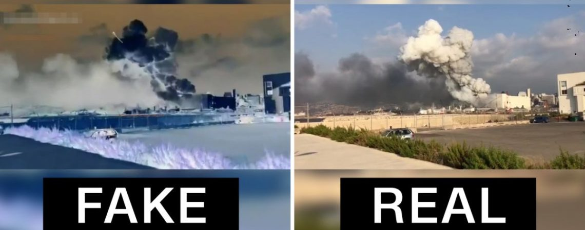 Doctored videos are already faking the cause of Beirut's explosion