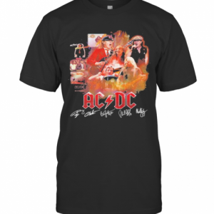 Acdc Band Members Signatures T-Shirt Classic Men's T-shirt