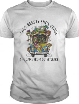 Alien camping car hippie Shes beauty shes grace she came from outer space shirt