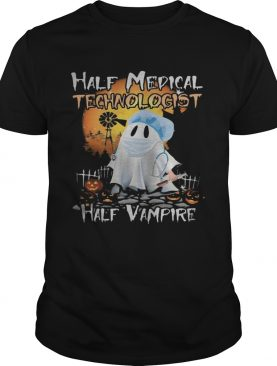 Halloween ghost half medical technologist half vampire shirt