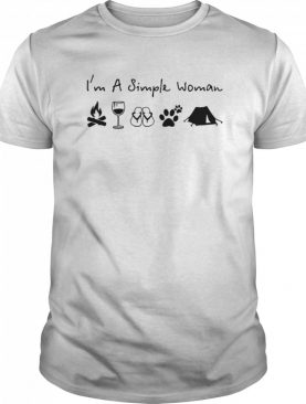I'm A Simple Woman Campfire Wine Flip Flops Dog And Tent shirt