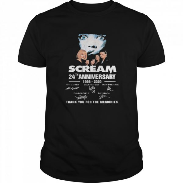 Scream 24th Anniversary 1996 2020 Thank You For The Memories Signatures  Classic Men's T-shirt