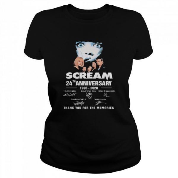 Scream 24th Anniversary 1996 2020 Thank You For The Memories Signatures  Classic Women's T-shirt