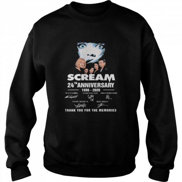 Scream 24th Anniversary 1996 2020 Thank You For The Memories Signatures  Unisex Sweatshirt