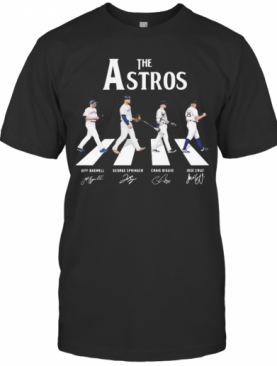 The Houston Astros Baseball Crossing The Line Signatures T-Shirt
