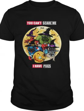 You Cant Scare Me I Have Pugs Avengers Halloween shirt