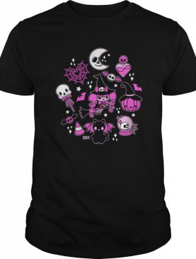 Halloween Doodle Vintage Witchy Magical Pastel Goth Pink shirt