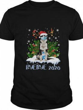 Bernese Mountain Dog Face Mask Bye Bye 2020 Merry Christmas Tree shirt