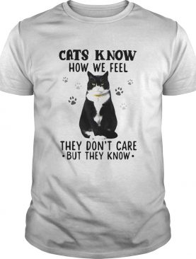Cats Know How We Feel They Dont Care But They Know shirt