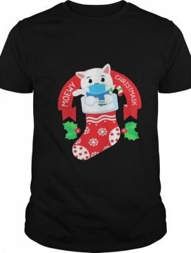 Cute Cat Face Mask Funny Christmas Stocking shirt