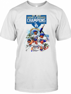 Los Angeles Dodgers 2020 World Series Champions Player Legend T-Shirt