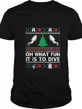 Oh What Fun It Is To Dive Christmas Ugly shirt
