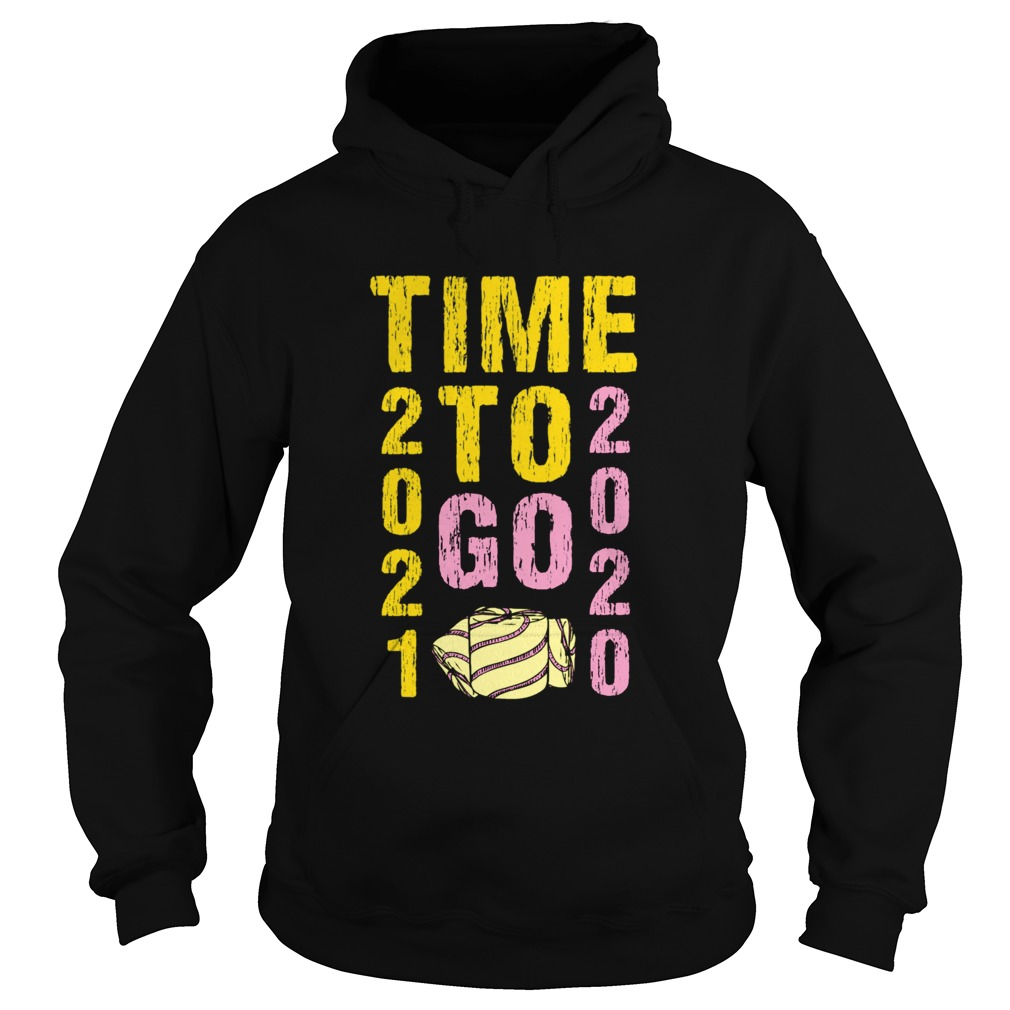Time To Go 2020 Goodbye 2020 Hello 2021 Gold And Pink Toilet Paper  Hoodie