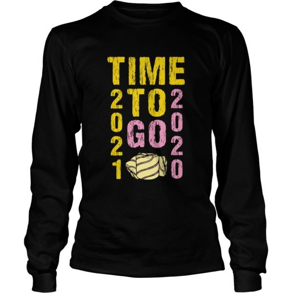 Time To Go 2020 Goodbye 2020 Hello 2021 Gold And Pink Toilet Paper  Long Sleeve