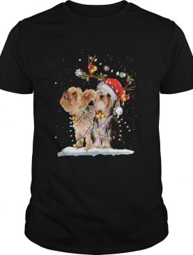 Yorkshire Terrier Santa Xmas Merry Christmas Light shirt