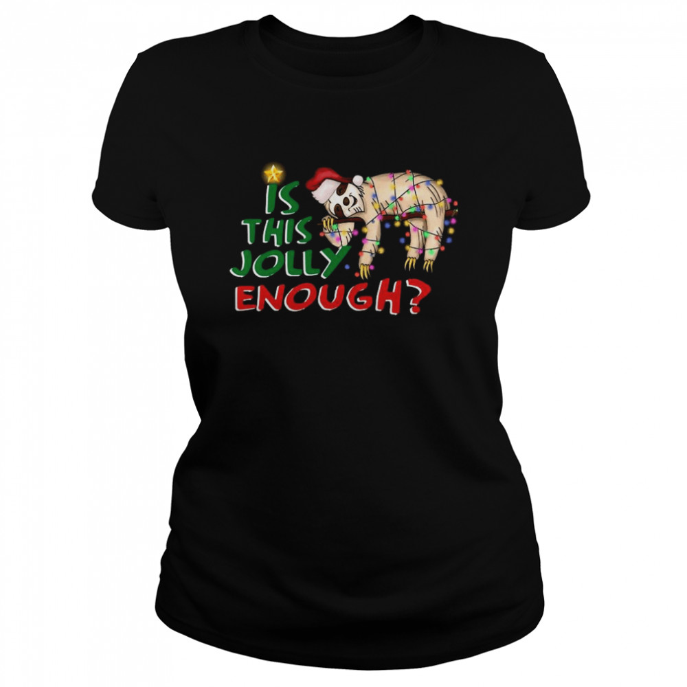 Is This Jolly Enough Merry Christmas  Classic Women's T-shirt