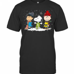 Peanuts Snoopy And Friends Christmas T-Shirt Classic Men's T-shirt