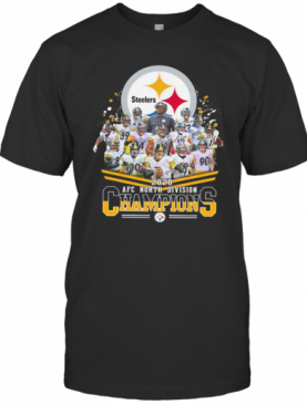Pittsburgh Steelers 2020 AFC North Division Champions Signatures T T-Shirt