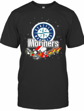 Seattle Mariners Snoopy Christmas T-Shirt