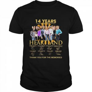 14 Years 2007 2021 Heartland Thank You For The Memories Signatures  Classic Men's T-shirt