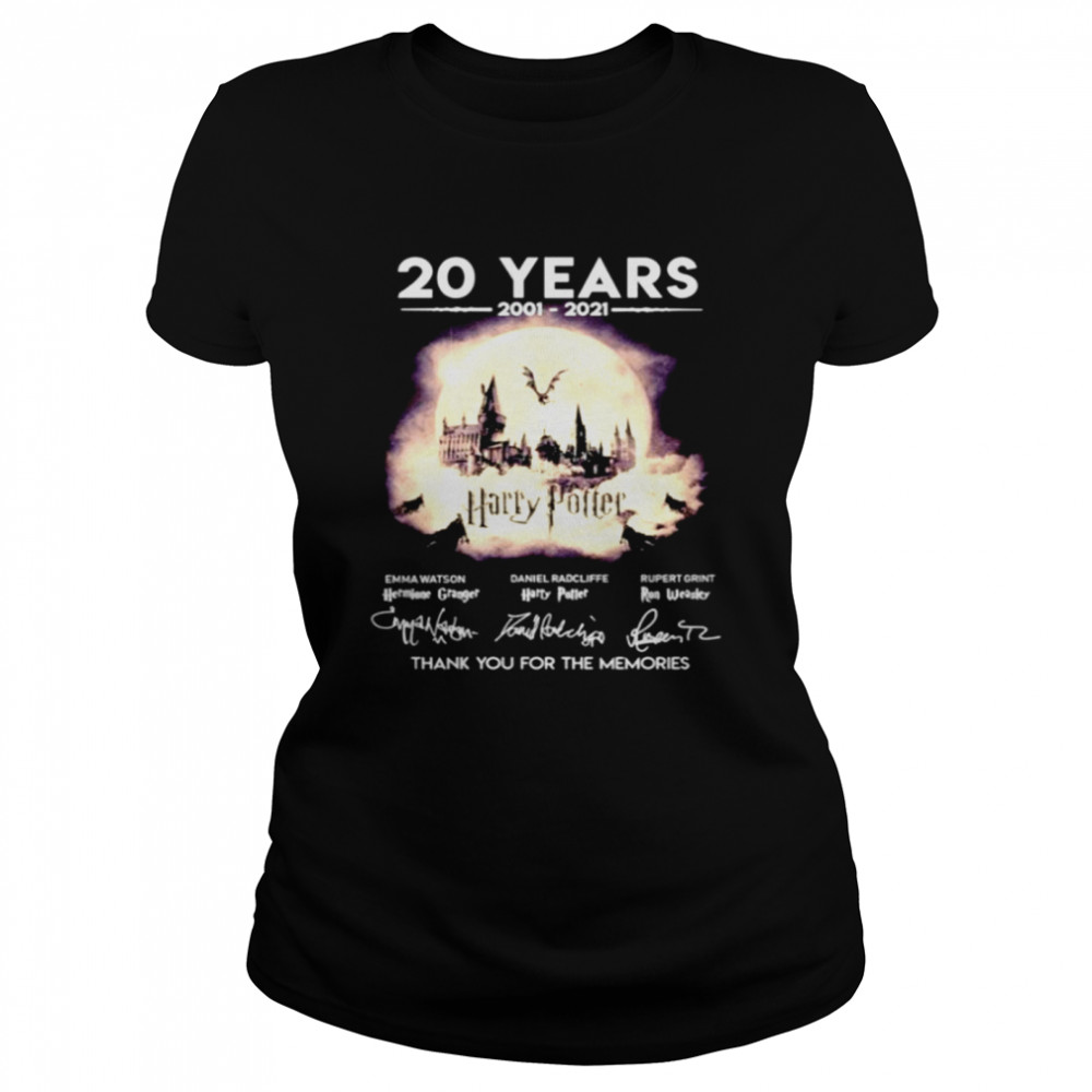 20 years 2001 2021 Harry Potter thank you for the memories  Classic Women's T-shirt