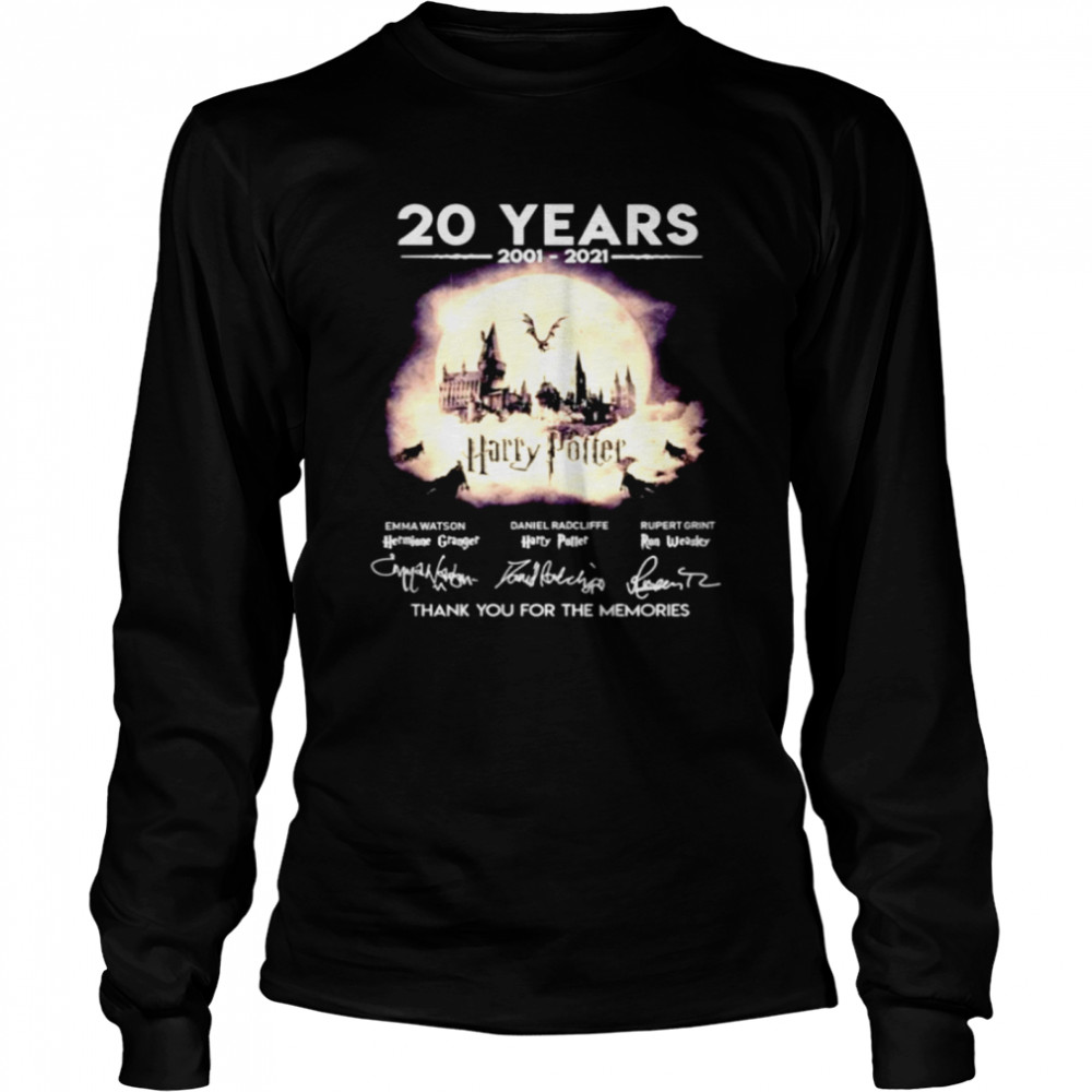 20 years 2001 2021 Harry Potter thank you for the memories  Long Sleeved T-shirt