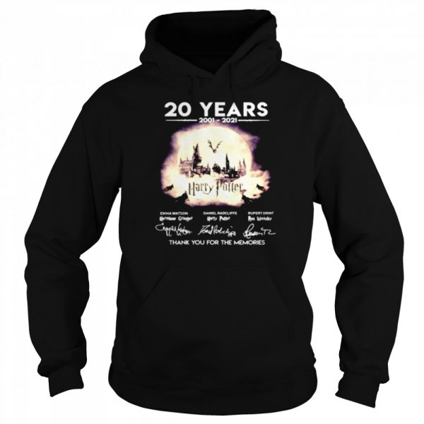 20 years 2001 2021 Harry Potter thank you for the memories  Unisex Hoodie